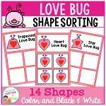 Shape Sorting Mats: Love Bug ~Digital Download~